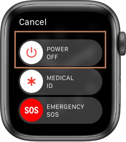 Power Off Menu - Restart Your Apple Watch