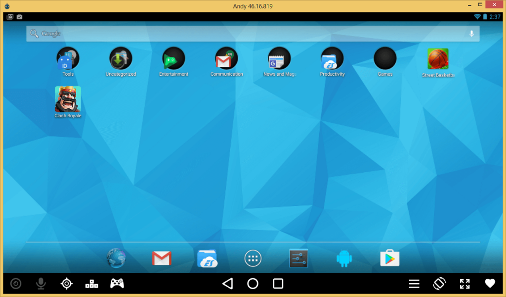 AndyOS -Best Android Emulators For Windows