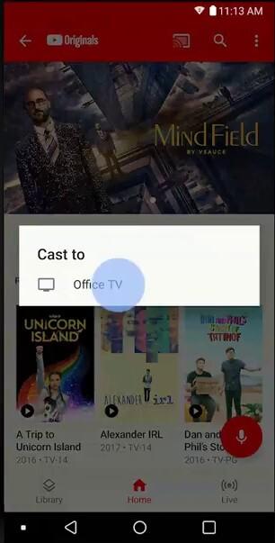 Cast YouTube TV to Chromecast