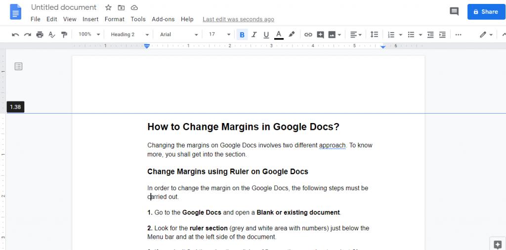 Change Margin at Left