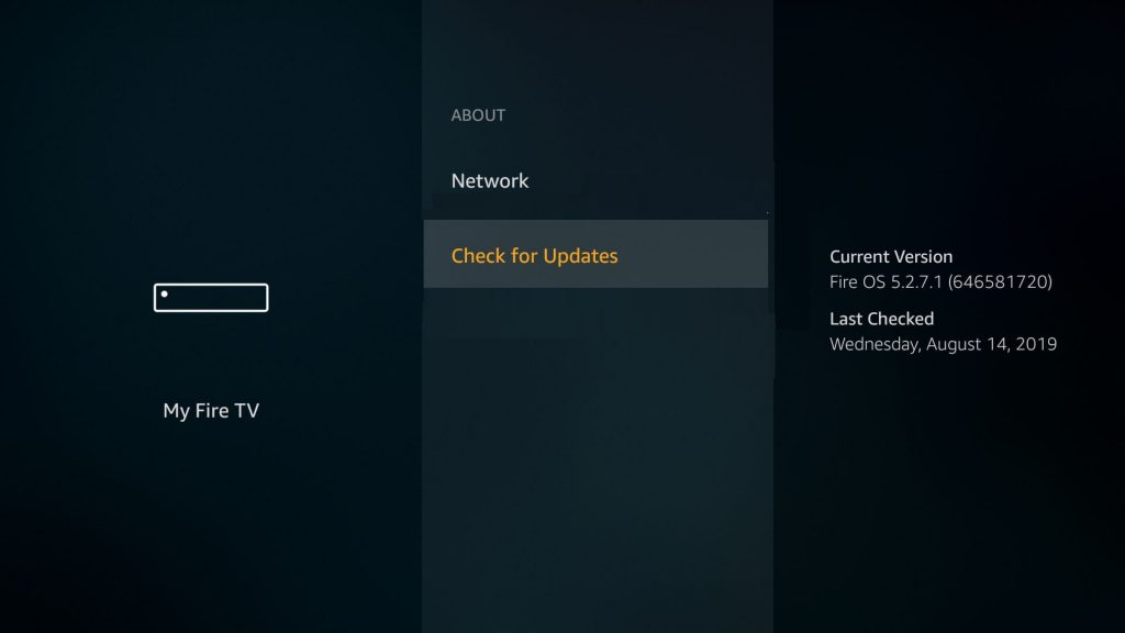Check for Updates to Update Amazon Firestick