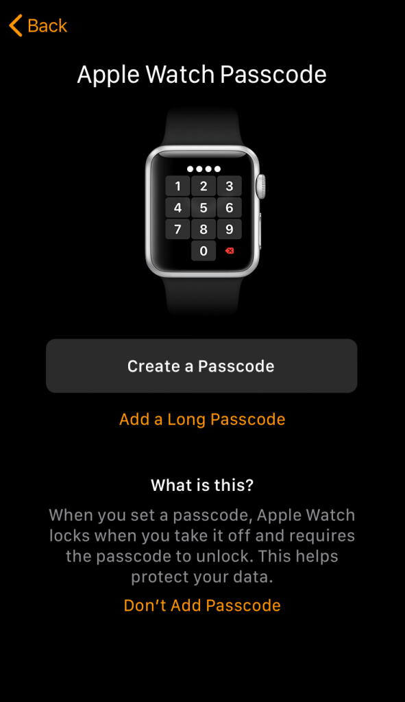 Create Passcode to Pair Apple Watch to iPhone