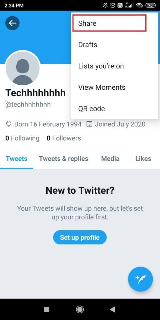 Find Twitter URL