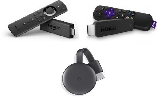 Firestick Chromecast and Roku