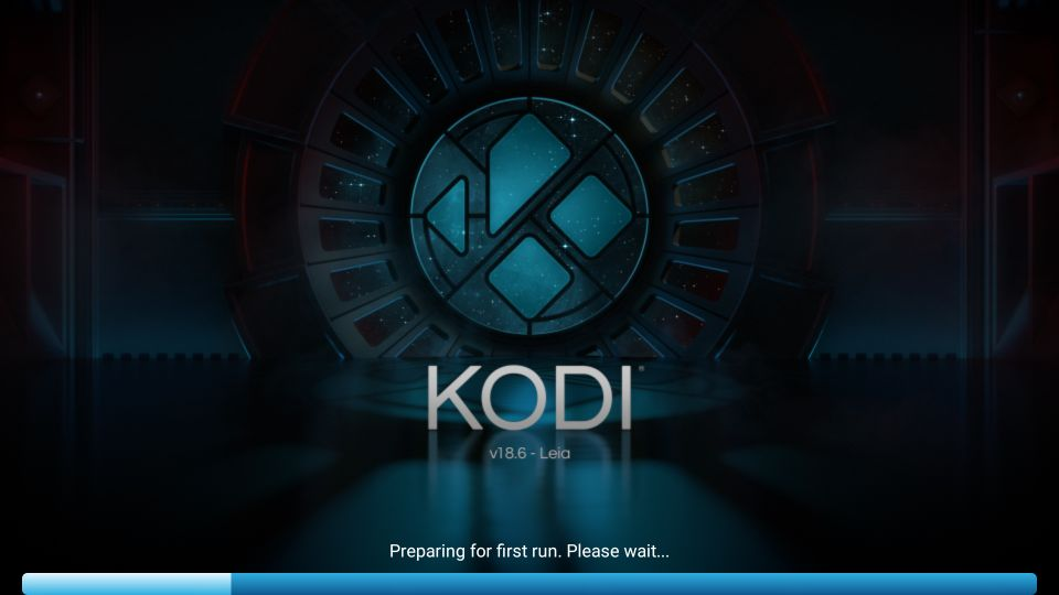 Kodi Preparing to run