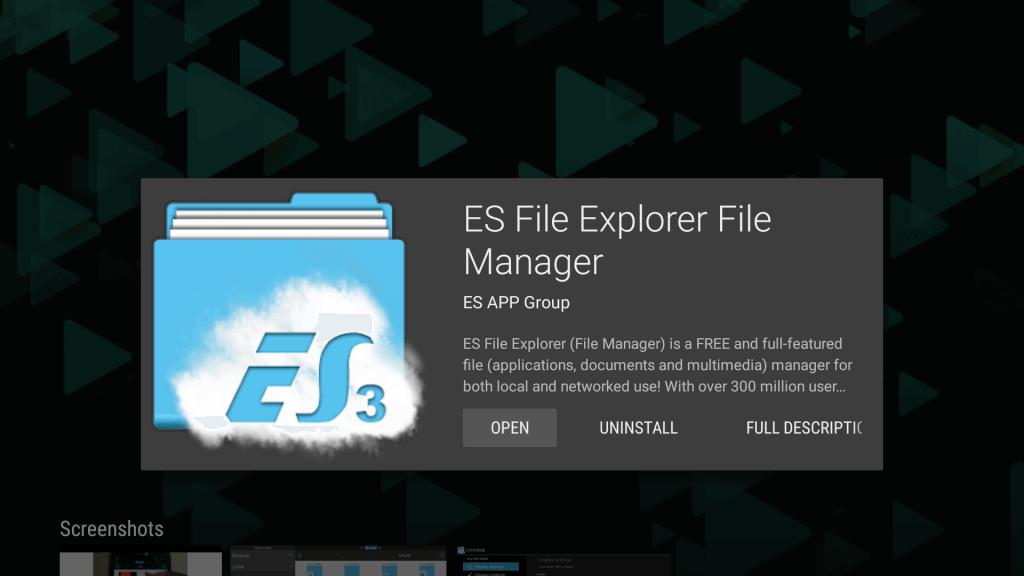 Launch ES File Explorer to install Chrome on Mi Box