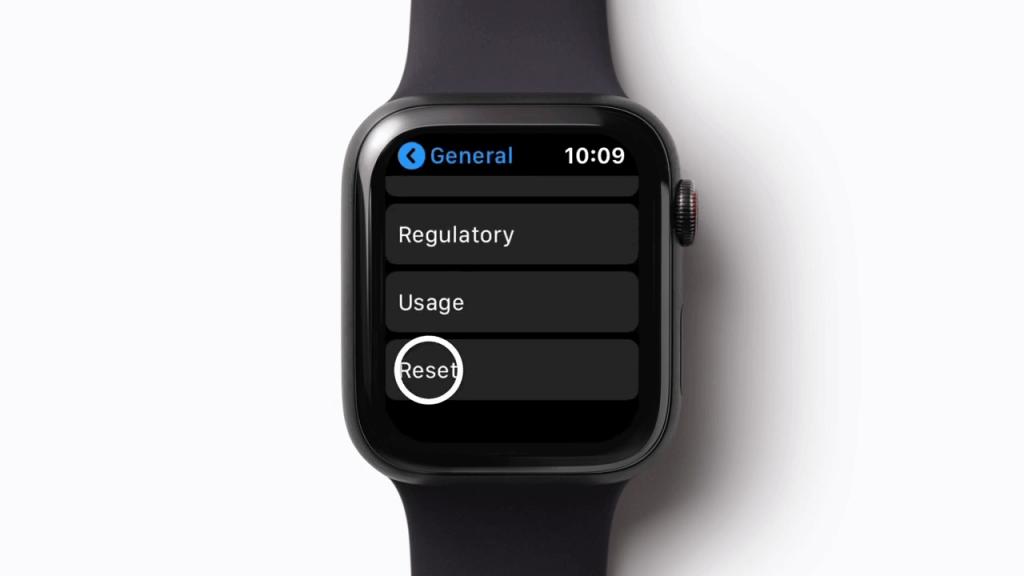 Reset Apple Watch