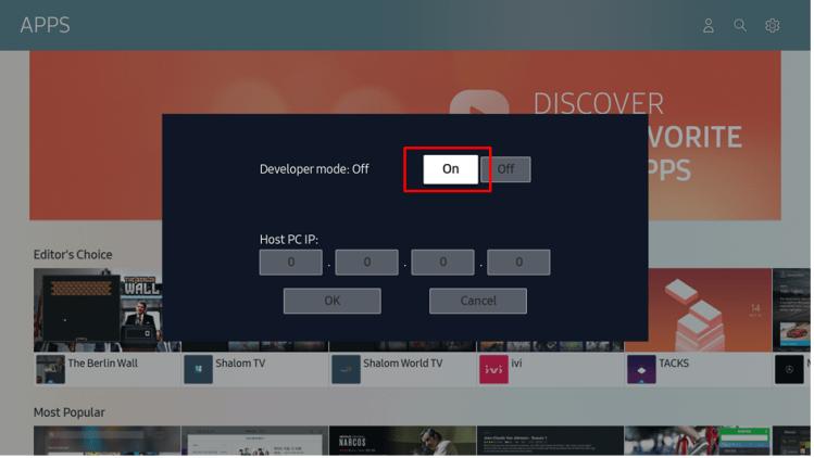 Developer mode on
