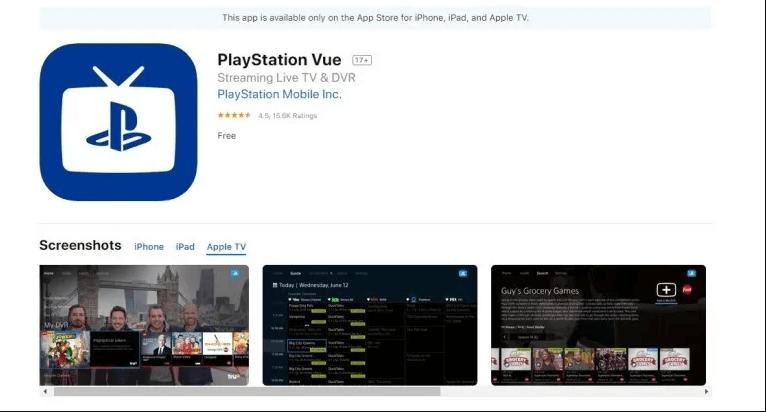 Playstation Vue app store
