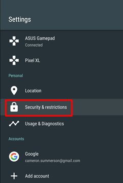 Security & Restrictions