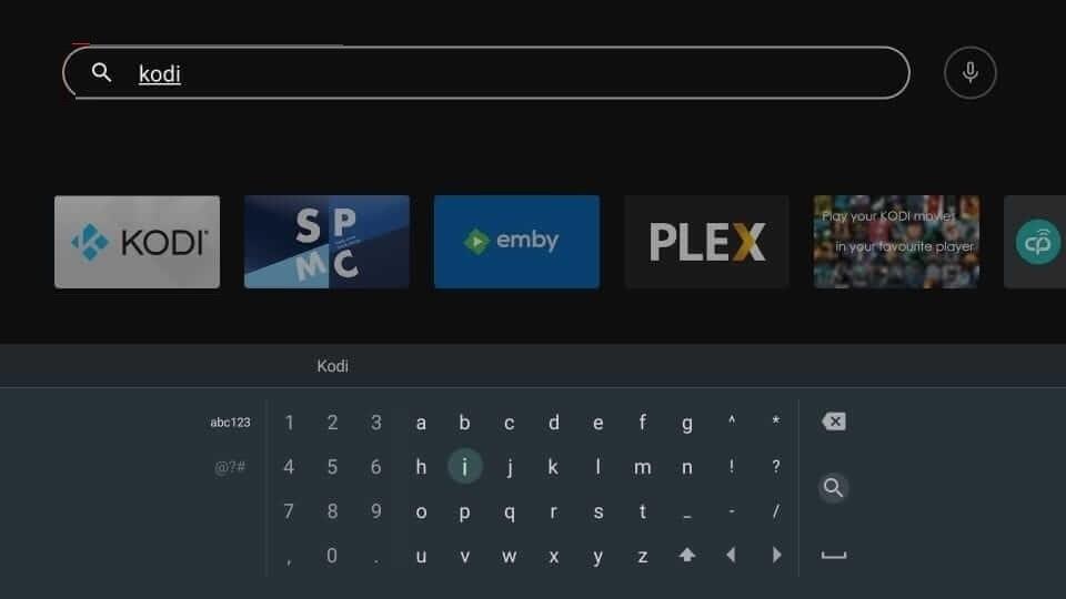 Search for Kodi on NVIDIA Shield
