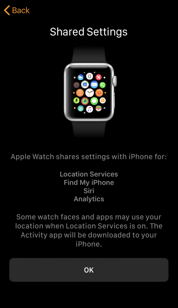 Shared Settings - Pair Apple Watch to iPhone