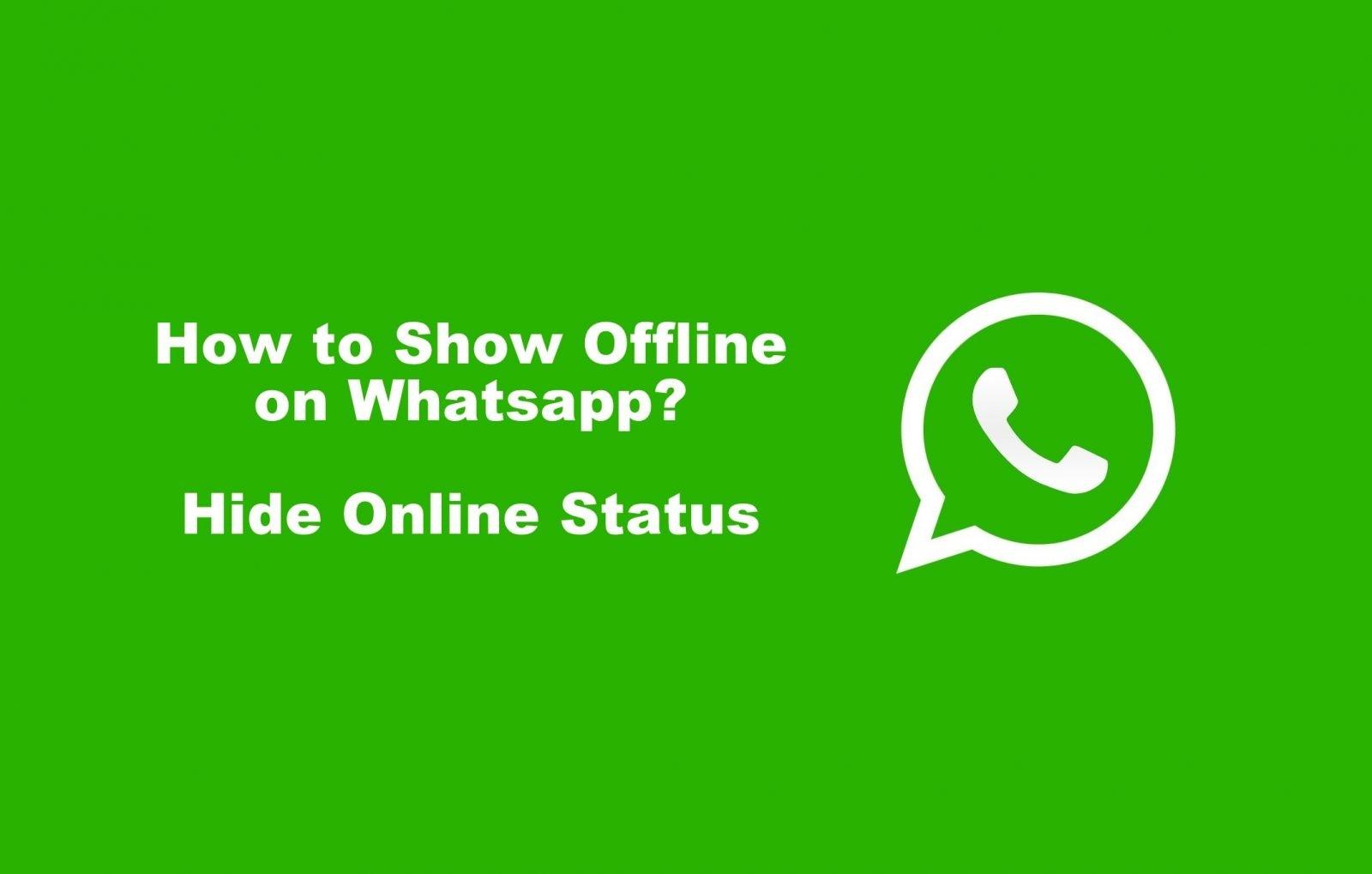 How to Show Offline on WhatsApp (Hide Your Online Status)