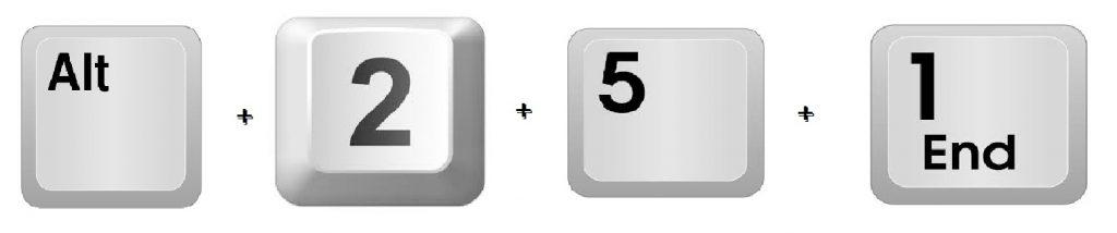 Square Root using Windows Keyboard