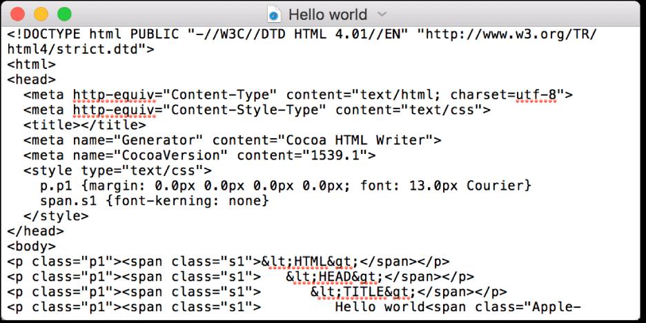 TXT File on Mac