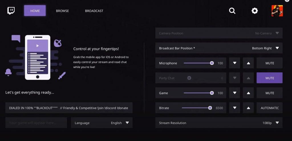 Broadcast Xbox One Gameplay on Twitch