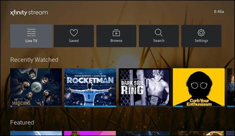 Xfinity app on Vizio TV using Roku