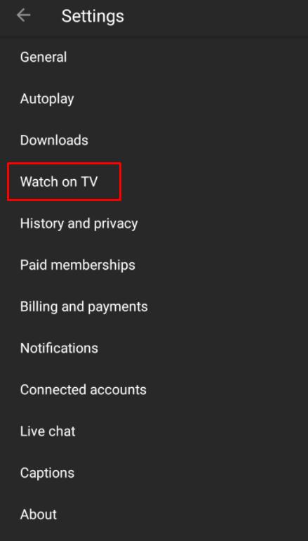 Watch on TV