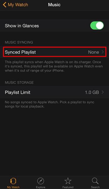 Synced playlist