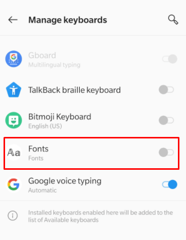 Fonts toggle on- How to Change Font on Facebook