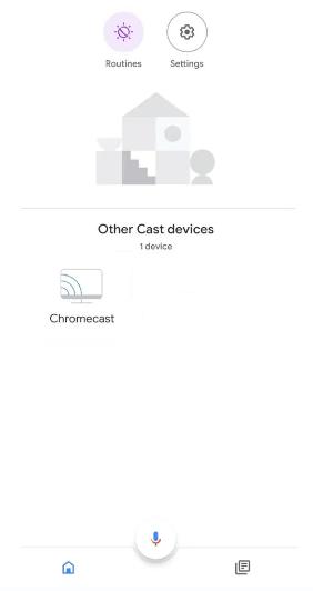 Choose Chromecast to Update Chromecast Firmware