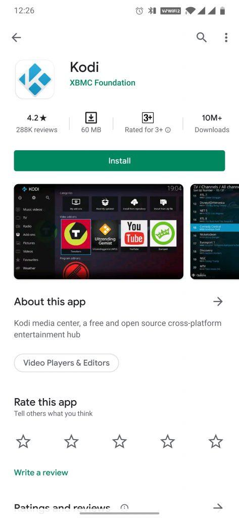 Kodi on TV using Chromecast