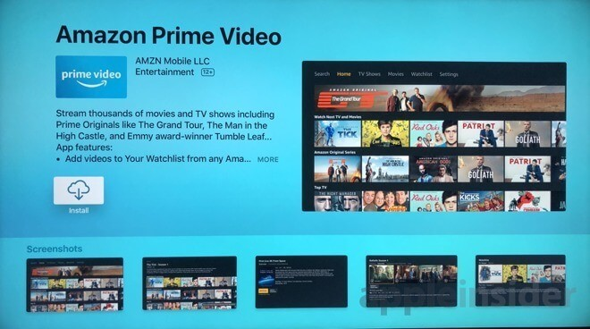 Click on Install to Watch Amazon Prime on Apple TV