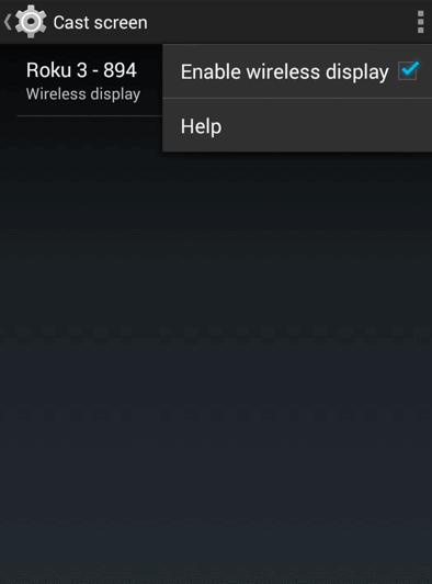 Enable Wireless Display - VLC on Roku