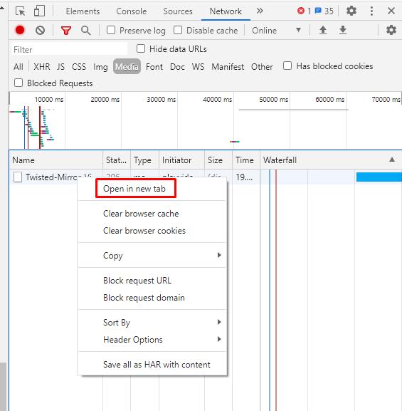 Openin new tab