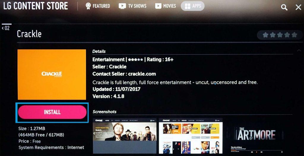 Download App on LG Smart TV