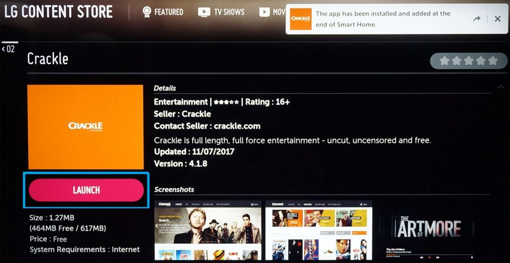 Launch the Downloaded App on LG Smart TV