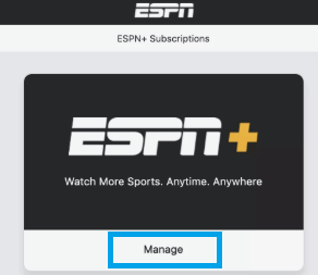 Manage ESPN+ subscription