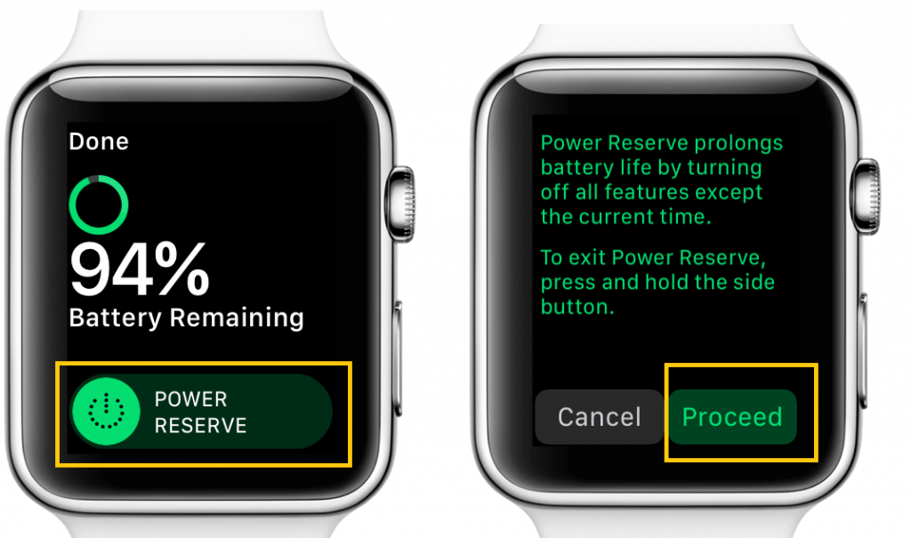 Power Reserve Mode on Apple Watch
