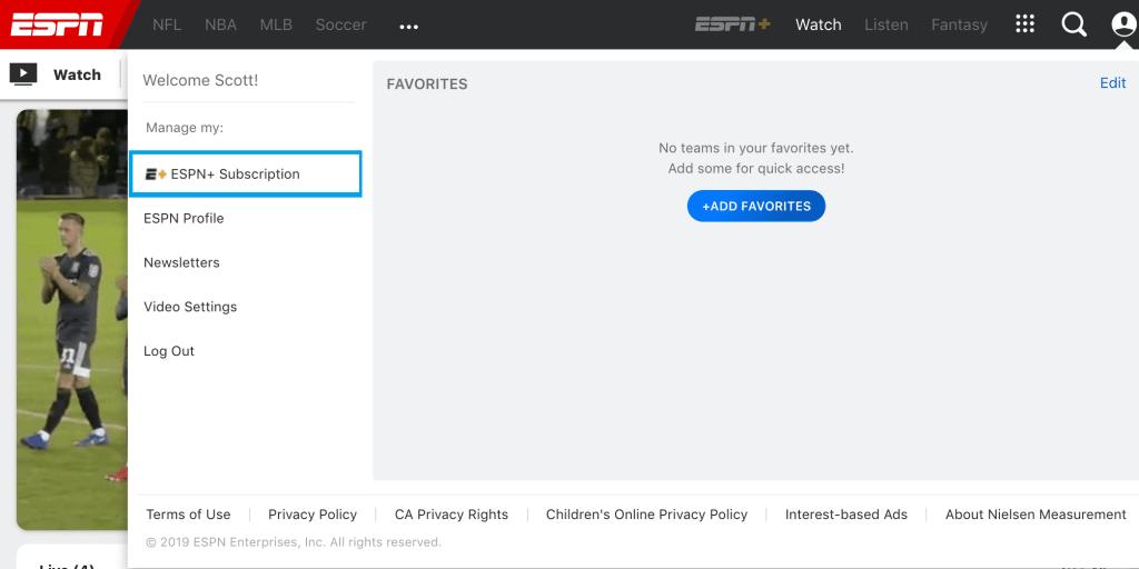 ESPN + Website