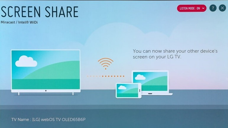 Screen Share on LG TV