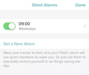 Set Alarm on Fitbit