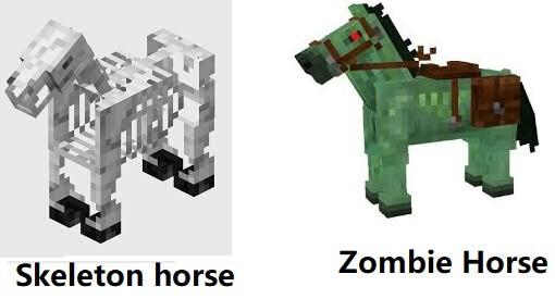 Skeleton and Zombie horses