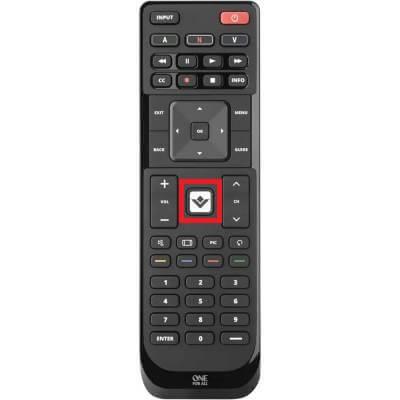 v button - vizio remote