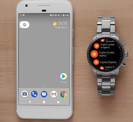 Choose Language - How to Set Up My Fossil Smartwatch