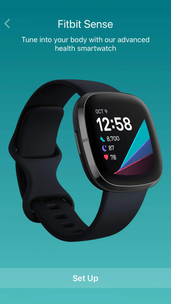 Setup Fitbit device