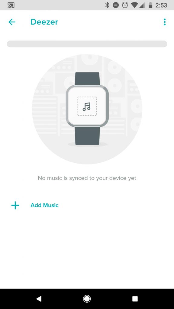Add Music button