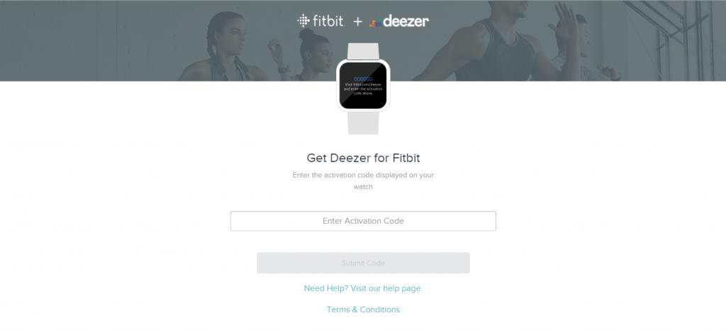 Deezer on Fitbit