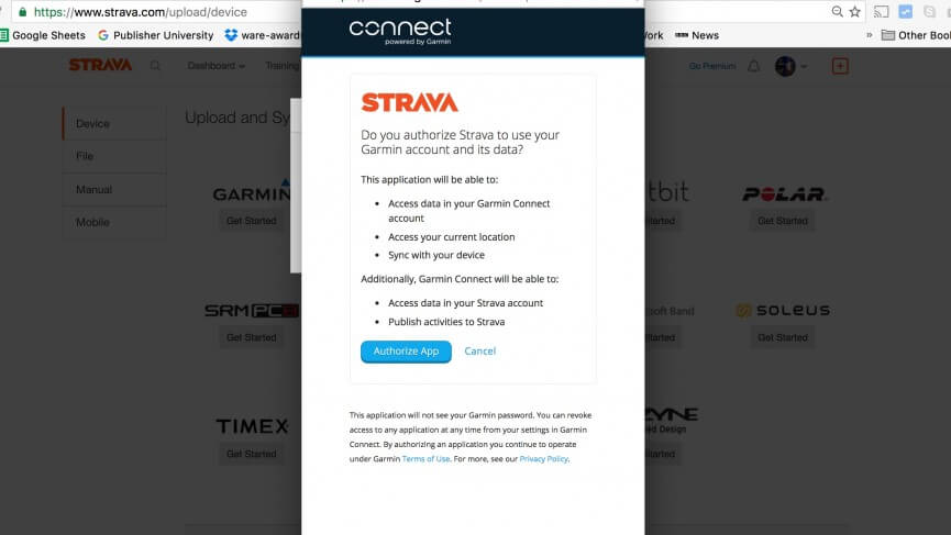 How to Connect Garmin to Strava