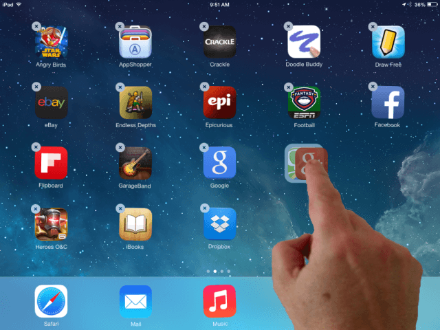 How to Move Icons on iPad