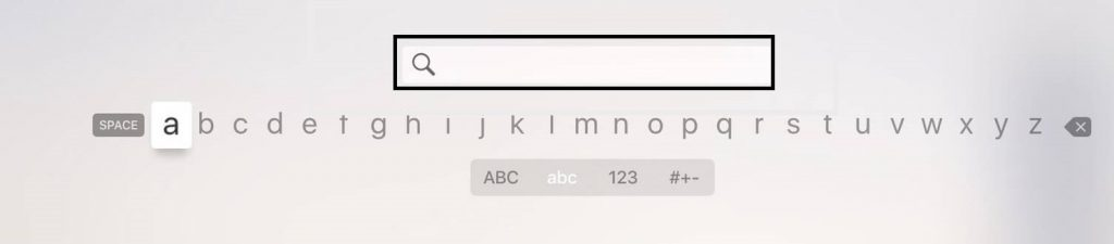 Search on Apple TV