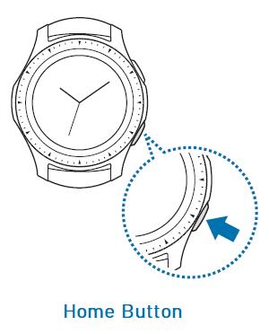 Samsung Galaxy smartwatch - Home Button