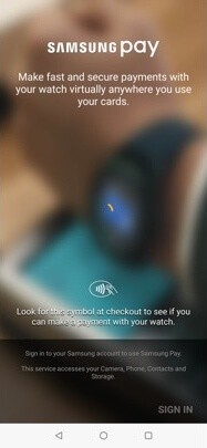 Samsung Pay on Galaxy Watch Active