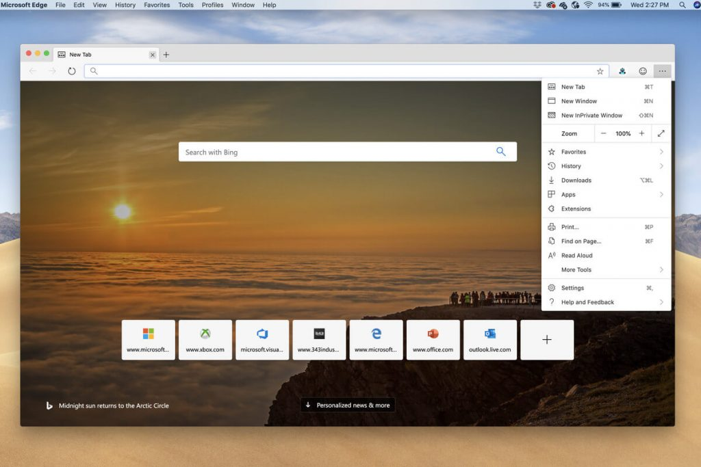 Best Web Browser for Mac - edge