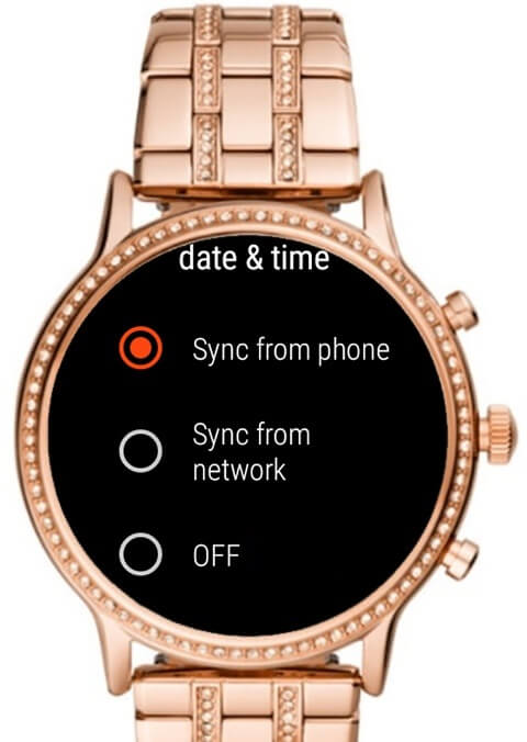 sync from phone - How to Change Time on Fossil Smartwatch
