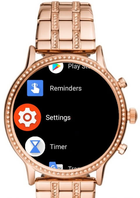 Settings - How to Change Time on Fossil Smartwatch